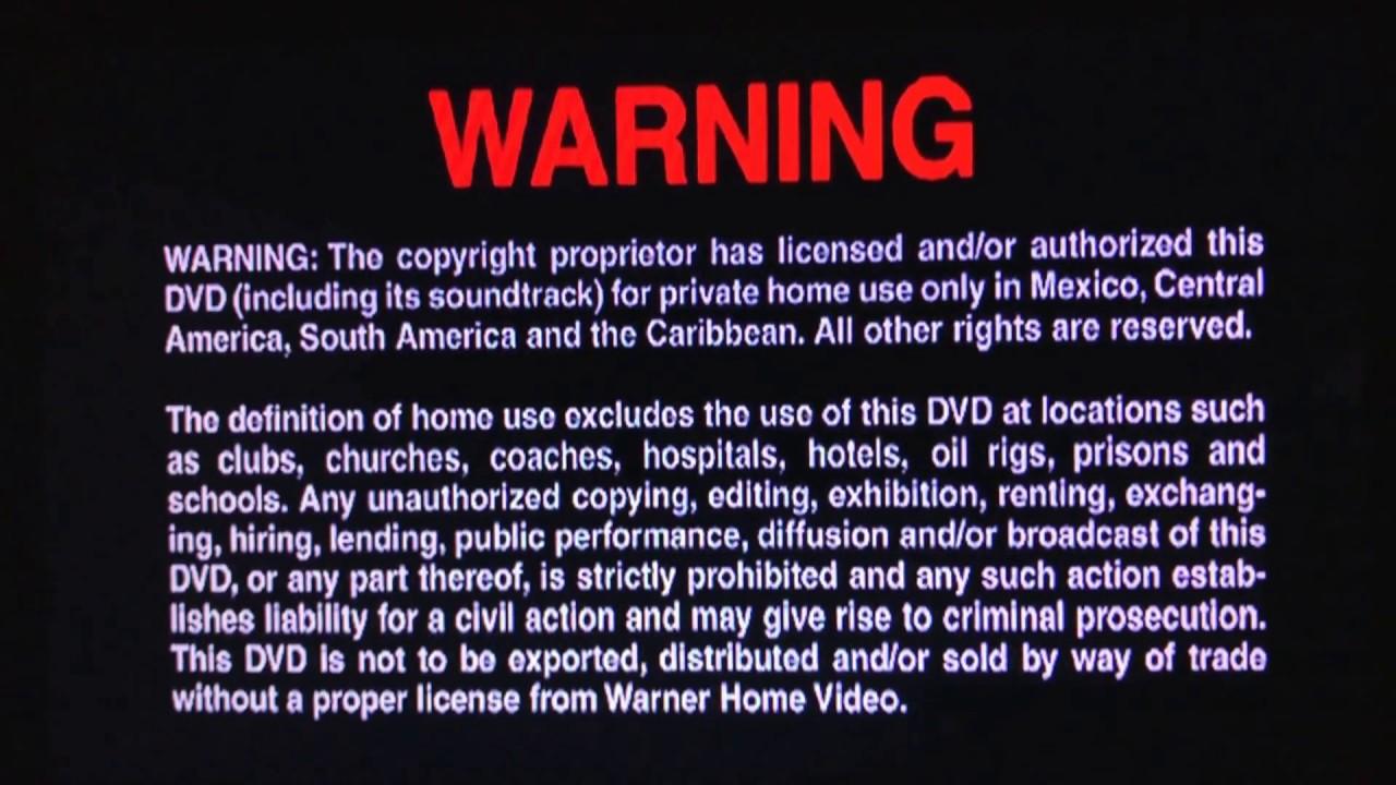 warner home video\u0027s multi languages copyright warning screens (2009  warner home video\u0027s multi languages copyright warning screens (2009)