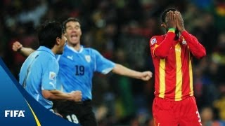 The most memorable match of 2010(Uruguay - Ghana, 2010 FIFA World Cup South Africa™: The world will never forget Luis Suarez's handball and Asamoah Gyan's penalty miss, but Sulley Muntari ..., 2013-03-01T04:12:11.000Z)