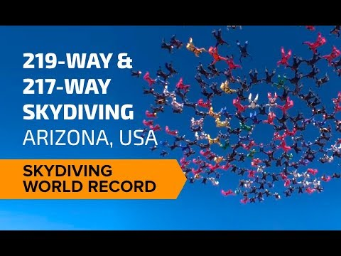 219-way & 217-way Skydiving World Record - Arizona, USA