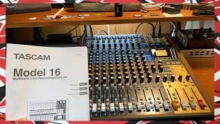 Tascam Model 16 Unboxing - Analog Mixer Multitrack Recorder USB Interface