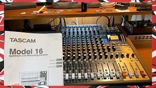 Tascam Model 16 Unboxing - Analog Mixer Multitrack Recorder USB Interface