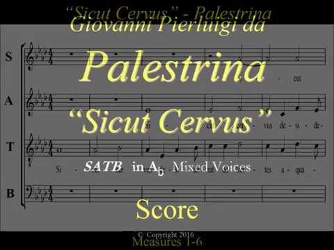 Palestrina - Sicut Cervus - Score