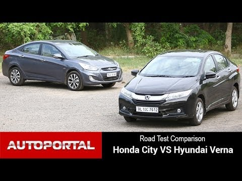 "Honda City Vs Hyundai Verna ""Road Test Comparison"" - AutoPortal"