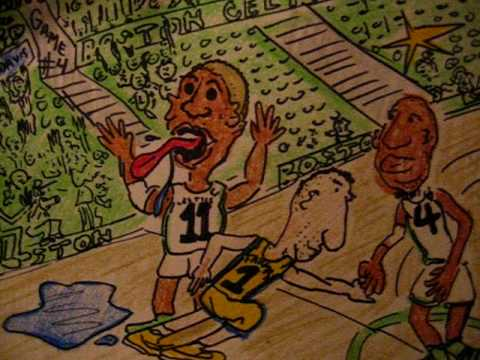 NBA FINALS LAKERS VS CELTICS GAME # 4 (big baby DAVIS )CARTOON