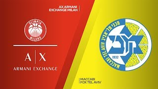 AX Armani Exchange Milan - Maccabi FOX Tel Aviv  Highlights |EuroLeague, RS Round 9