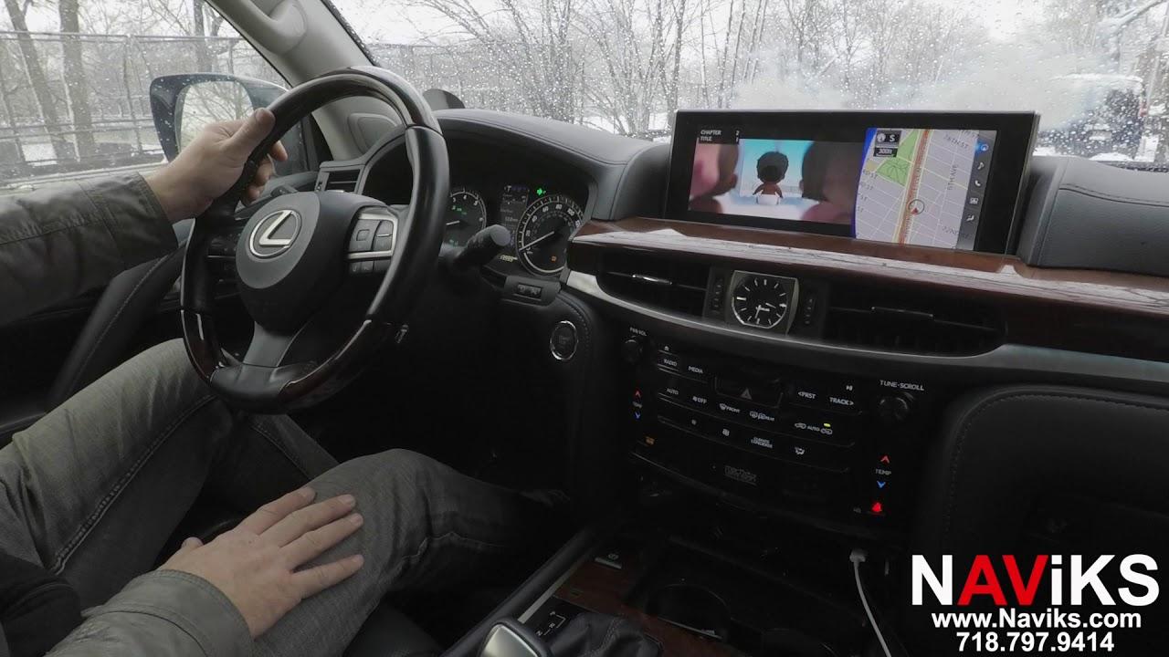 2017 Lexus LX570 J200 NAViKS Motion Lockout Bypass NAV & DVD In Motion
