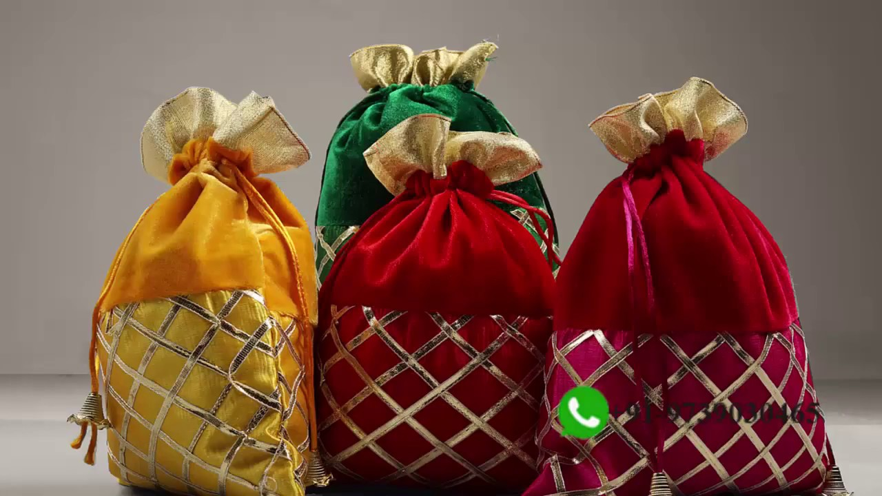 Indian Return Gift Bags Gota Patti Favor Bags - Crafthatti