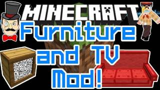 Minecraft Mods - TV & FURNITURE Mod ! Sofa , Bench, Chairs & More !