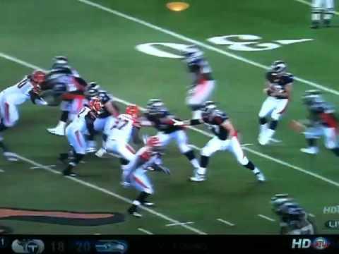 Tim Tebow to Willis drop 2010 Pre-season Broncos vs Bengals