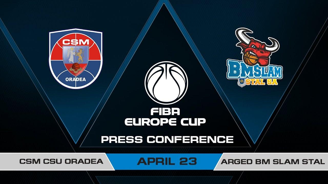 Press Conference - Semi-Finals: CSM CSU Oradea v Arged BMSLAM Stal | FIBA Europe Cup 2020