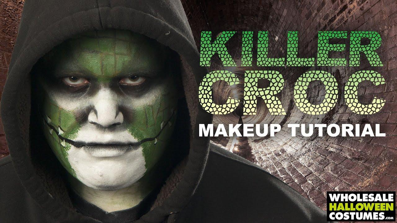killer croc makeup tutorial   #whcdoessfx - youtube