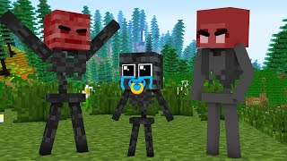 Monster School : POOR BABY WITHER SKELETON LIFE (SAD STORY) CHALLENGE - Minecraft Animation