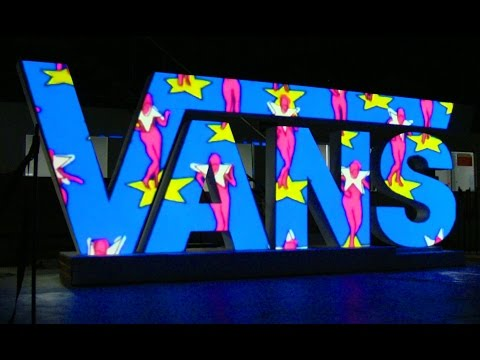 VANS Video Mapping Projection on 3D Surface / Intro