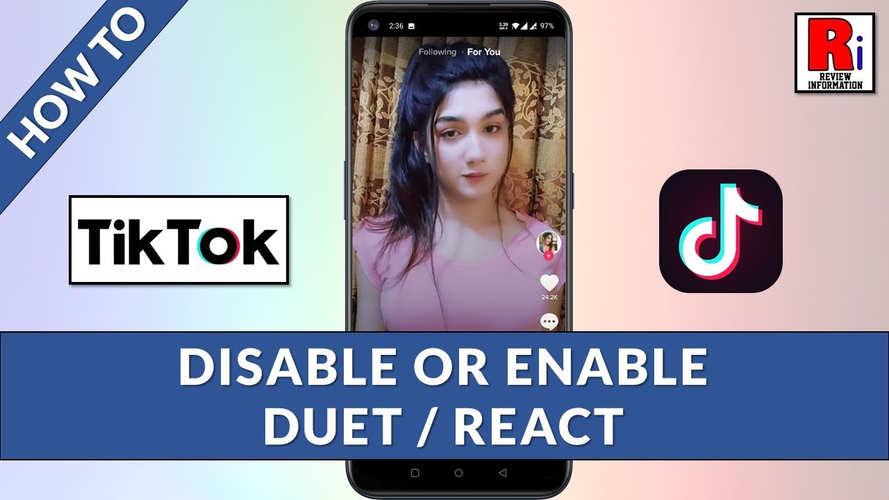How To Disable Or Enable Duet React In Tiktok Youtube