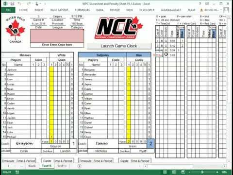 water polo scoring sheet - Mersnproforum - hockey score sheet