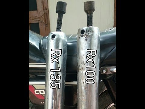 Difference between silencer of yamaha Rx 135 and Rx 100