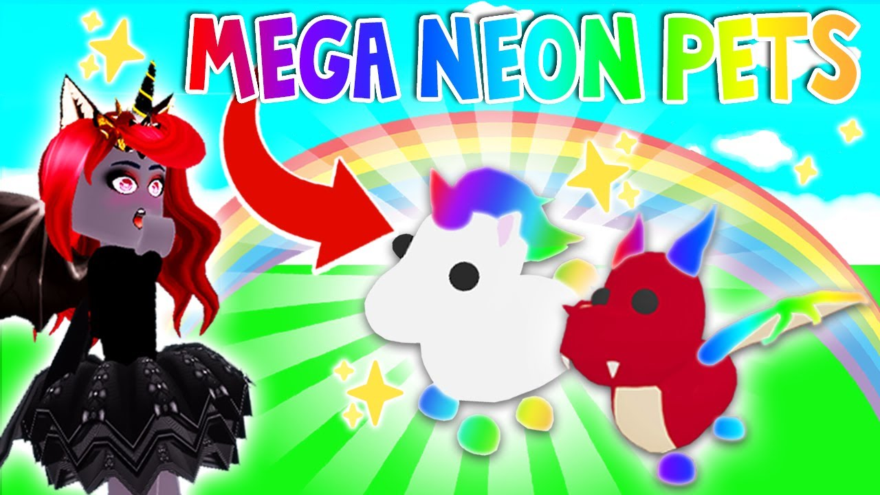 How To Get A Mega Neon Unicorn And More Pets In Adopt Me Roblox Youtube