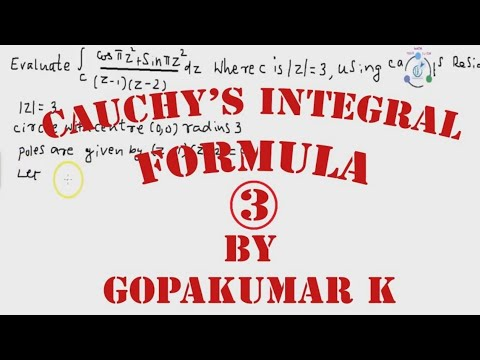 Cauchy's Integral formula .Part-3 (Engineering Maths-(KTU,Kerala ,Anna University)