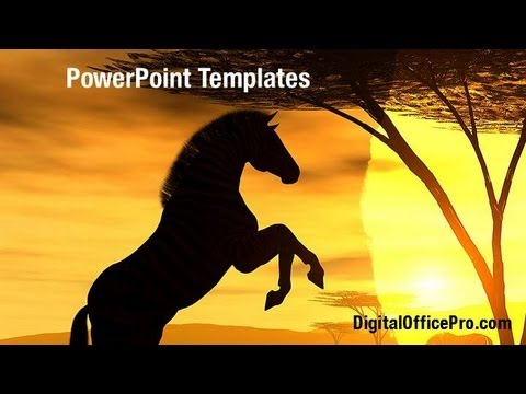 Zebra silhouette powerpoint template backgrounds digitalofficepro zebra silhouette powerpoint template backgrounds digitalofficepro 08927w toneelgroepblik Images