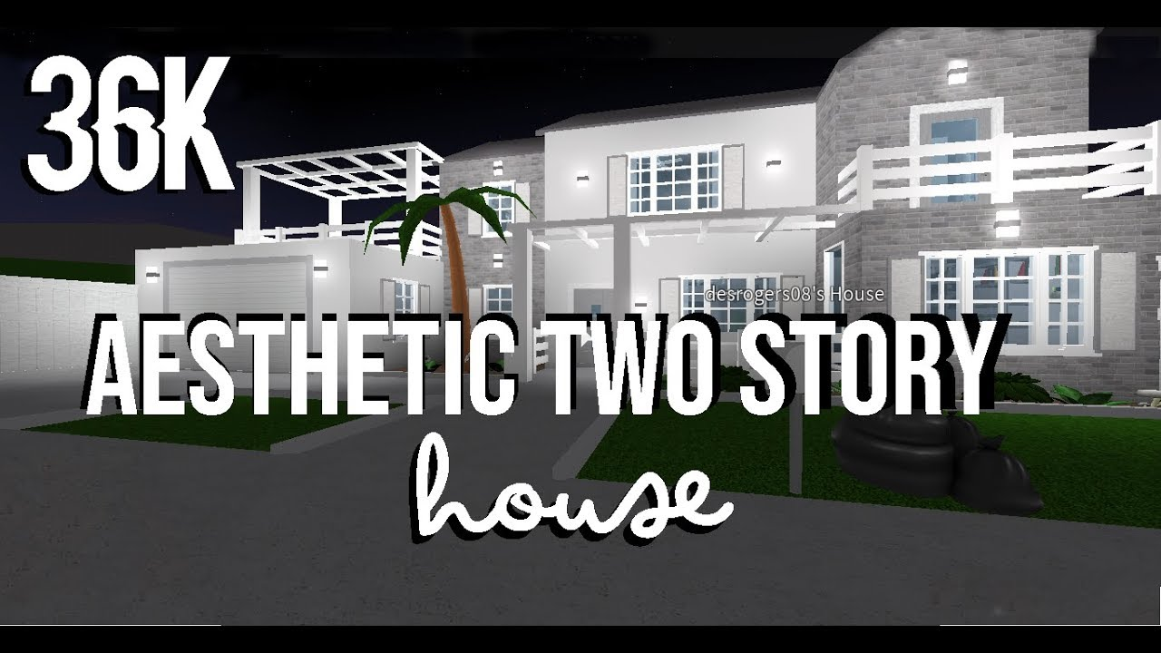 Roblox Welcome To Bloxburg Aesthetic Two Story House 36k Youtube