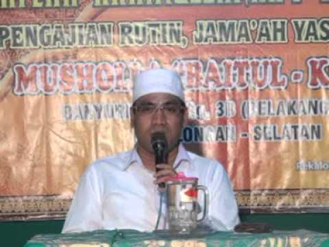 Kh Sam'ani Sya'roni Haflah Akhirussanah Jama'ah Yasin & Tahlil 11 Juni 2015