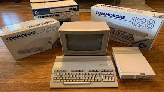 """1985 Commodore 128 Computer  System """"New In Box"""" Unboxing in 2020!"""