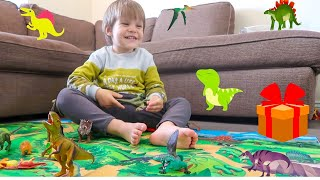 Dinosaur for Kids, Dinosaur toys fun, Leo Opens New Surprise Toys