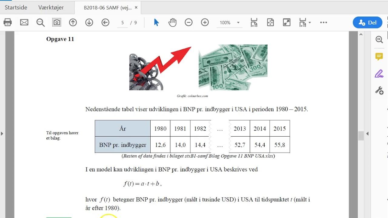 Lineær regression i Nspire på store datasæt fra Excel (STX-B)
