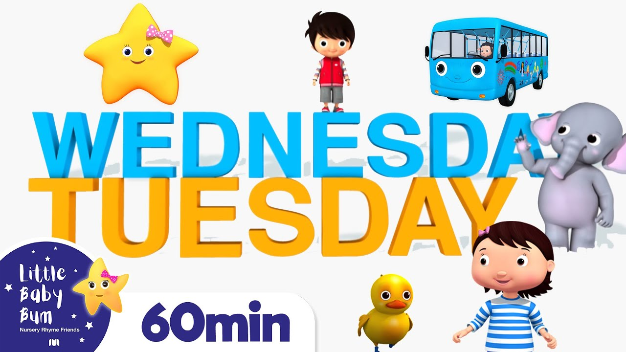 Days Of The Week Song +More Nursery Rhymes and Kids Songs | Little Baby Bum