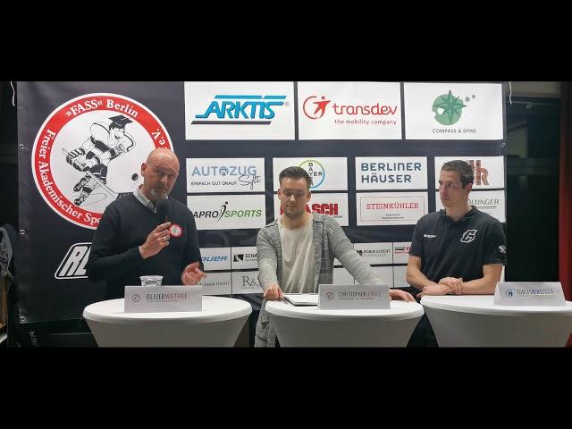 Pressekonferenz FASS Berlin Vs Chemnitz Crashers
