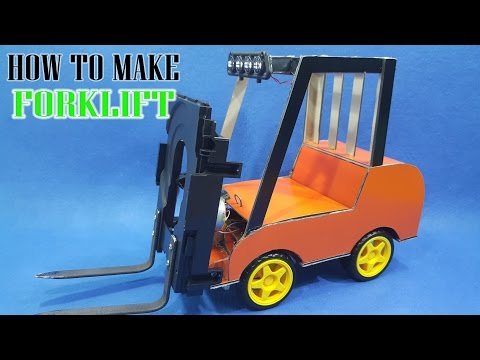 How To Make A Forklift | DIY creative toys