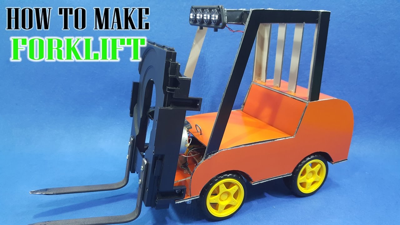 How To Make A Forklift Diy Creative Toys Youtube