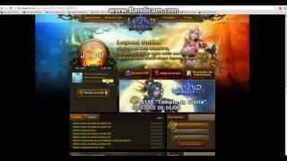 Como vincular conta Site - Legend Online