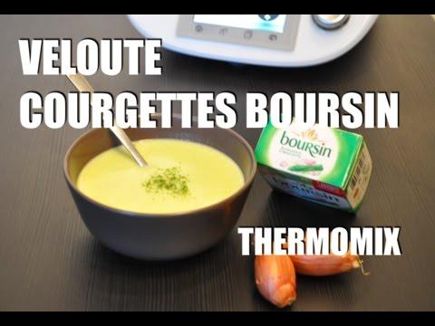 La recette de la soupe velouté de courgette Boursin avec
