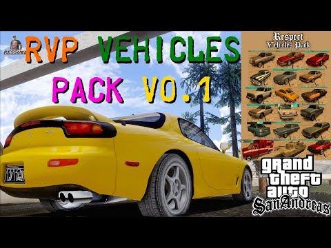 PACK DE VEÍCULOS RVP - RESPECT Vehicles Pack V0.1 PARA GTA SAN ANDREAS FULL HD 1080p
