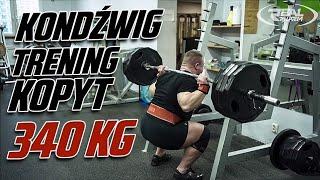 KonDźwig TRENING KOPYT 340 KG W PRZYSIADZIE