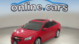 A99889GP Used 2014 Chevrolet Cruze LTZ FWD 4D Sedan Red Test Drive, Review, For Sale