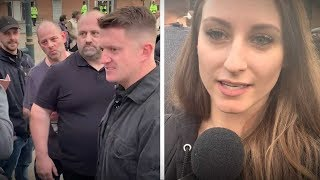 "Tommy Robinson supporters in Salford: ""If he doesn't win, it's been rigged"" 