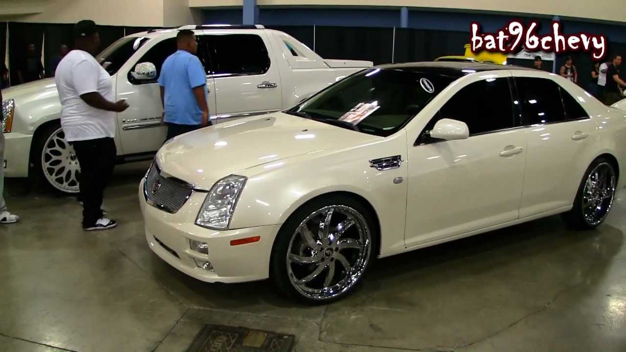 Pearl White Cadillac STS On 22 Forgiatos Chrome Wheels
