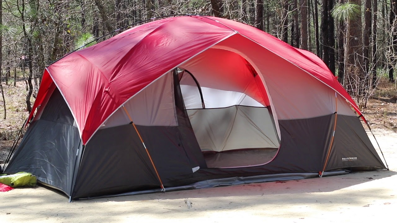 f8dd9eca015 Field & Stream 8 Person Recreational Dome Tent Review - YouTube