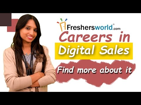 Careers and Training courses for Digital Sales I Job opportunities,Scope,Package