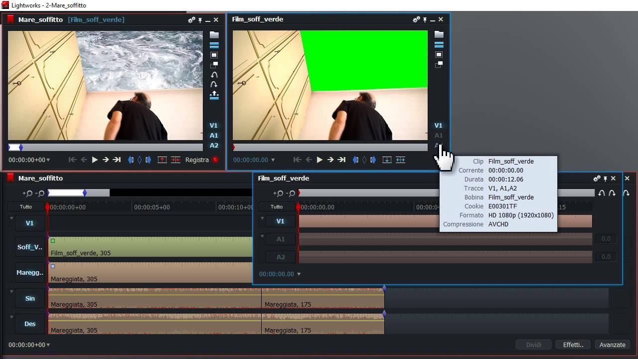 E' online il Video Tutorial Lightworks PRO in ITALIANO! N  10:  Mare-soffitto