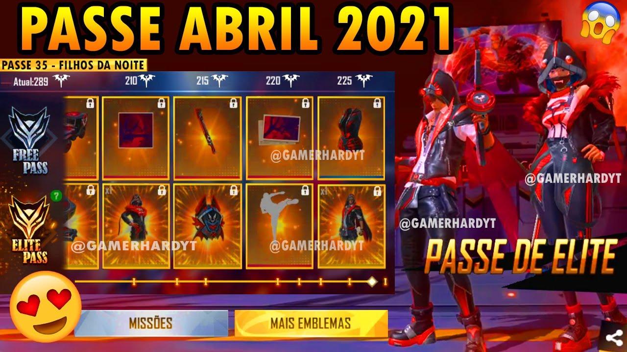PASSE DE ELITE ABRIL 2021 FREE FIRE (COMPLETO) - YouTube