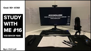 Study With Me - VCE Edition #16 [7/08/19] // chill lofi study beats // Methods Grind till 11:30
