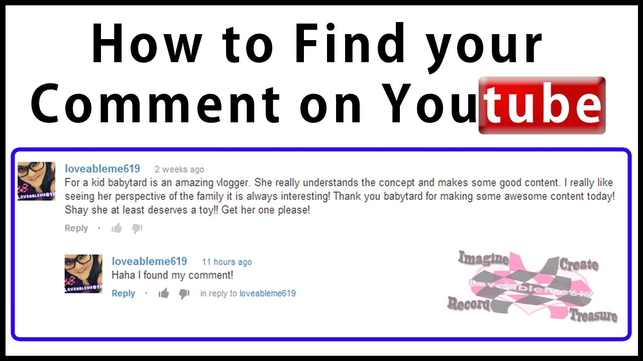 How To Find Your Comment On Youtube
