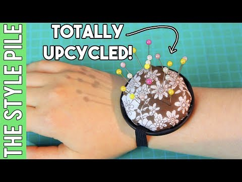 DIY Wrist Pin Cushion from Scraps | Style Pile #21