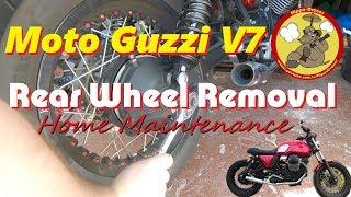 How to Remove the Rear Wheel on a Moto Guzzi V7