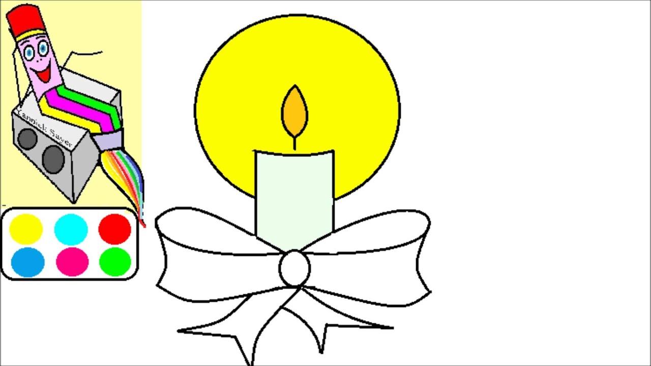 Apprendre dessiner no l dessin d une bougie youtube - Dessin de bougies ...