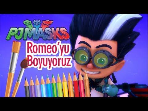 Pj Maskeliler Boyama Oyunu Renkleri öğreniyorum Pj Maskeliler çizgi