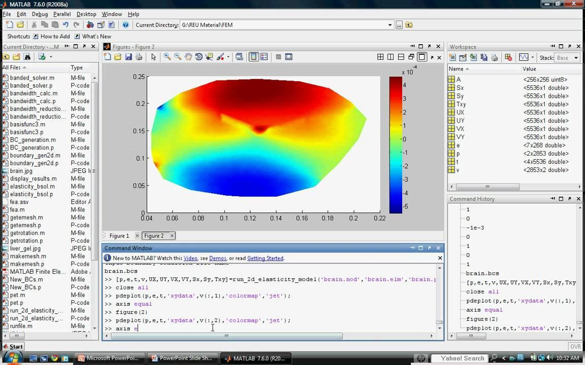 Intro to MATLAB Finite Element Program for Solving 2-D Elastic Problems in  Biomechanics (1)